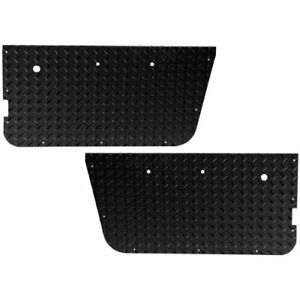 Warrior Products 90750pc Powder Coated Full Door Insert For Jeep Cj7 Yj