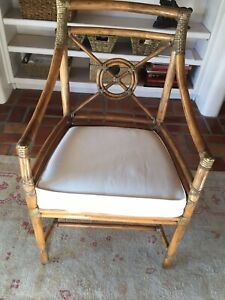 Pair Of Mcguire Target Style Arm Chairs Excellent Condition