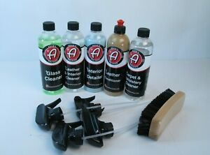 Adam S Polishes Auto Detailing Kit Leather Conditioner Glass Cleaner 5 Items New