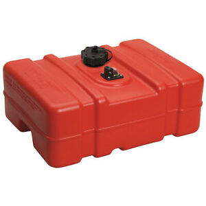 Scepter Marine 08669 12 Gal Red Plastic Portable Fuel Tank