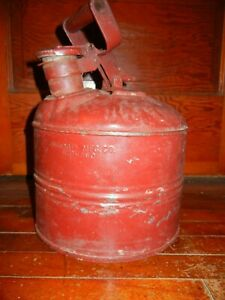 Vintage Justrite Mfg Co Chicago Safety Gas oil Can Works