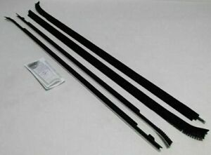 1983 1987 Chevy Caprice 2 Door Hardtop Window Beltline Weatherstrip Kit 4 Pieces