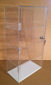 Acrylic Counter Top Display Case 12 X 7 X 22 5 locking Cabinet Showcase Box