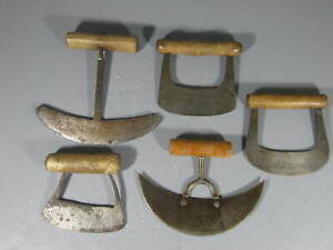 Lot Of 5 Antique Hand Wrought Food Choppers Aafa Nice Lot