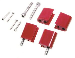 Taylor Cable 42725 Spark Plug Wire Separator Bracket Vertical 4 Pcs In Red