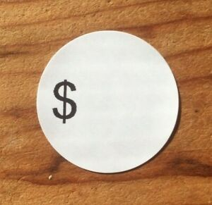 189 Self adhesive Sale Price Round Retail Labels 1 Sticker Tags
