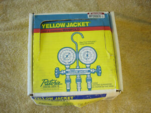 Ritchie Yellow Jacket Test Charging Manifold R 12 R 22 R 502 With Hoses Nos
