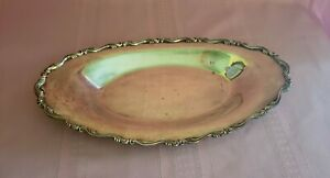 Wm Rogers Silver Plate Celery Bread Serving Tray Silverplated