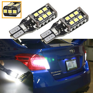 T15 W16w High Bright 2835 Canbus Led Bulbs 921 Back Up Reverse Light White