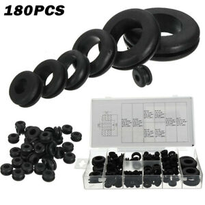 180x Circle Ring Rubber Grommets Assortment Sealing Gaskets Kit Car Truck Boat