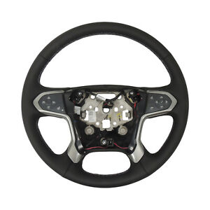 Steering Wheel Assembly Black Leather 2015 18 Chevy Silverado 2500 3500 84483775
