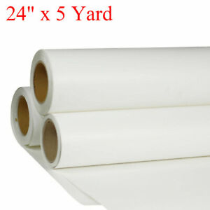 24 X 5 Yard Roll White Printable Waterproof Vinyl For T shirt Heat Transfer