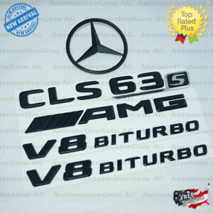 W218 Cls63s Amg V8 Biturbo Rear Star Emblem Black Badge Combo Set Mercedes