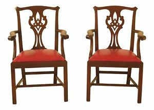 47771ec Pair Henkel Harris Model 101 Mahogany Arm Chairs