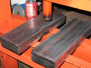 50 Ton Notched Steel Shop Arbor Press Plates Hydraulic H frame Bed Bars Pair