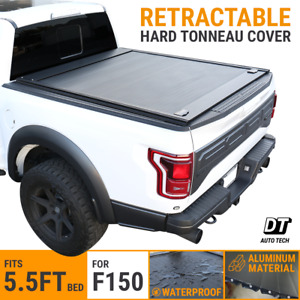 2010 2020 Ford F 150 Tonneau Cover 5 5ft Truck Bed Retractable Waterproof Hard