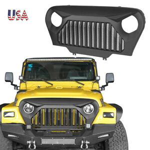 Abs Angry Bird Front Gladiator Mesh Grille Grill For Jeep Wrangler 1997 2006 Tj