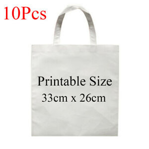 10pcs Blank Dye Sublimation Shopping Bag Small For Heat Transfer Non woven