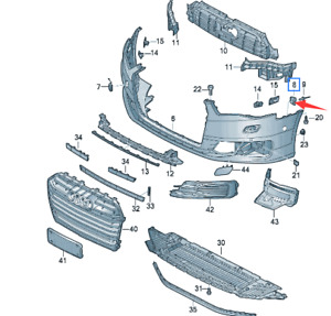 Genuine New Front Bumper Securing Strip For Audi A6 11 18 4g0807277