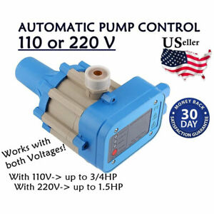 Automatic Electronic Switch Water Pump Pressure Controller 110 Or 220v Usa New