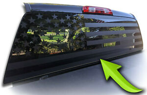 American Flag Pick Up Truck Back Window Decal Universal Fits Tacoma Tundra