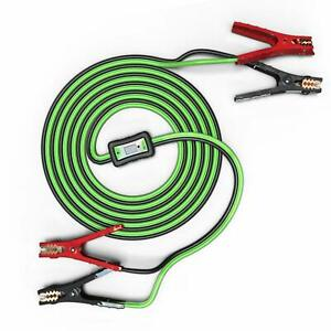 Mychanic Smart Cables 6 Gauge 12 Feet Jumper And Voltage Meter With Reverse For