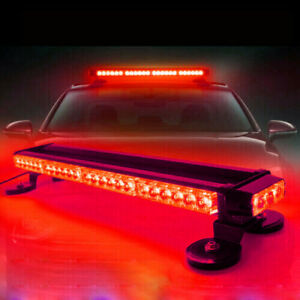 54led Emergency Traffic Advisor Double Side Warning Strobe Light Bar Red Lamp