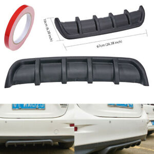 Shark Fin 6 Wing Lip Diffuser 26 X 6 Rear Bumper Chassis Black Abs Universal