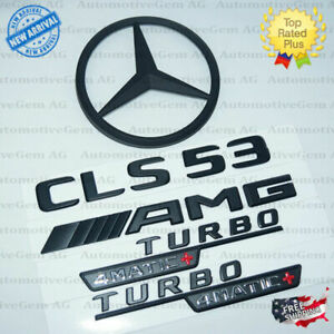 C257 Coupe Cls53 Amg Turbo 4matic Rear Star Emblem Black Badge Combo Mercedes