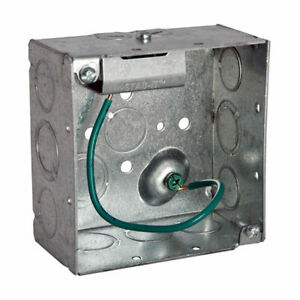 Hubbell raco 232s Stab it 4 In Metal Square Electrical Box Case Of 20