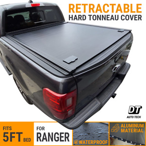 For 2019 2021 Ranger Tonneau Cover 5ft Bed Retractable Waterproof Hard Aluminum