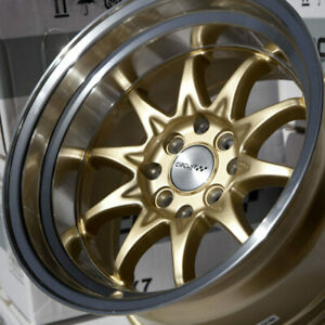 Circuit Performance Cp29 15x8 4 100 4 114 3 0 Gold Wheels Fits Acura Integra