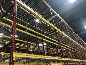 1 Section Teardrop Pallet Rack 20 x42 96 Beam With Wire Deck