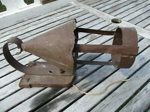 Vtg Antique Tudor Castle Wall Fixture Outdoor Sconce Gothic Victorian Art Deco