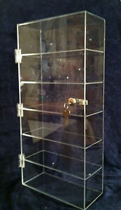 Usa acrylic Counter Top Display Case 12 X 6 5 X 23 5 locking Cabinet Showcase