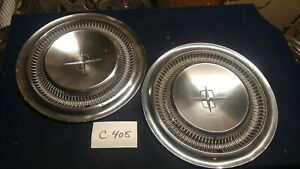 Pair 1962 1963 1964 1965 Lincoln Hubcaps Wheel Covers 65 Both