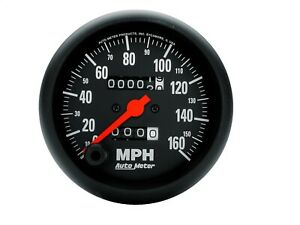 Autometer 2694 Z Series In Dash Mechanical Speedometer With Black Dial Face