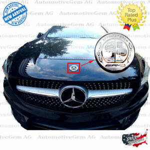 Affalterbach Amg Silver Hood Badge Metal Emblem Sticker Mercedes C E S Glc Gle G