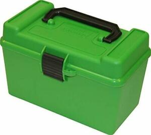 MTM H50-R-MAG Deluxe 50-Round Rifle Ammo Box 300 Win Mag 30-30 375 HH 7mm ...