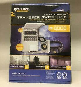 Reliance Back up Power Transfer Switch Kit Complete Pre wired 6 circuit Kit