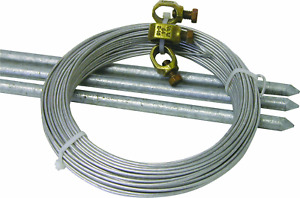 Farm Grounding Kit Electric Horse Fence Grounding Rods Steel Ground Wire Gift