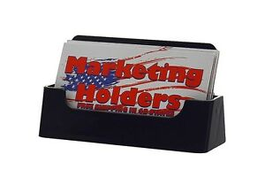 Black Business Card Holder Display Stand Counter Table Top Acrylic Qty 2