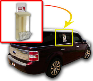 Outdoor Vehicle Flyer Tri Fold Business Card Box Holder Car Detailing