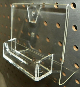 Pegboard Business Card Holder Display Rack Clear Plastic Acrylic