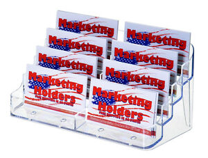 8 Pocket Business Gift Card Organizer Display Stand Multi Slot Value Pack Of 50