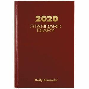 At a glance 2020 Standard Diary Daily Reminder 5 X 7 1 2 Small Red