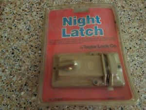 Vtg New In Box Taylor Brass Pin Tumbler Dead Bolt Door Night Latch Lock