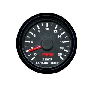 Ppe Pyrometer Exhaust Gas Temperature Gauge 0 2 000f