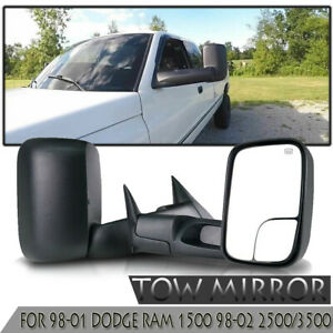 Tow L R Sides Mirrors For 98 01 Dodge Ram 1500 98 02 2500 3500 Power Heated Us