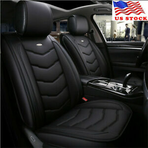 Universal Luxury Pu Leather Car Seat Covers Front Rear Full Set Seasons Usa